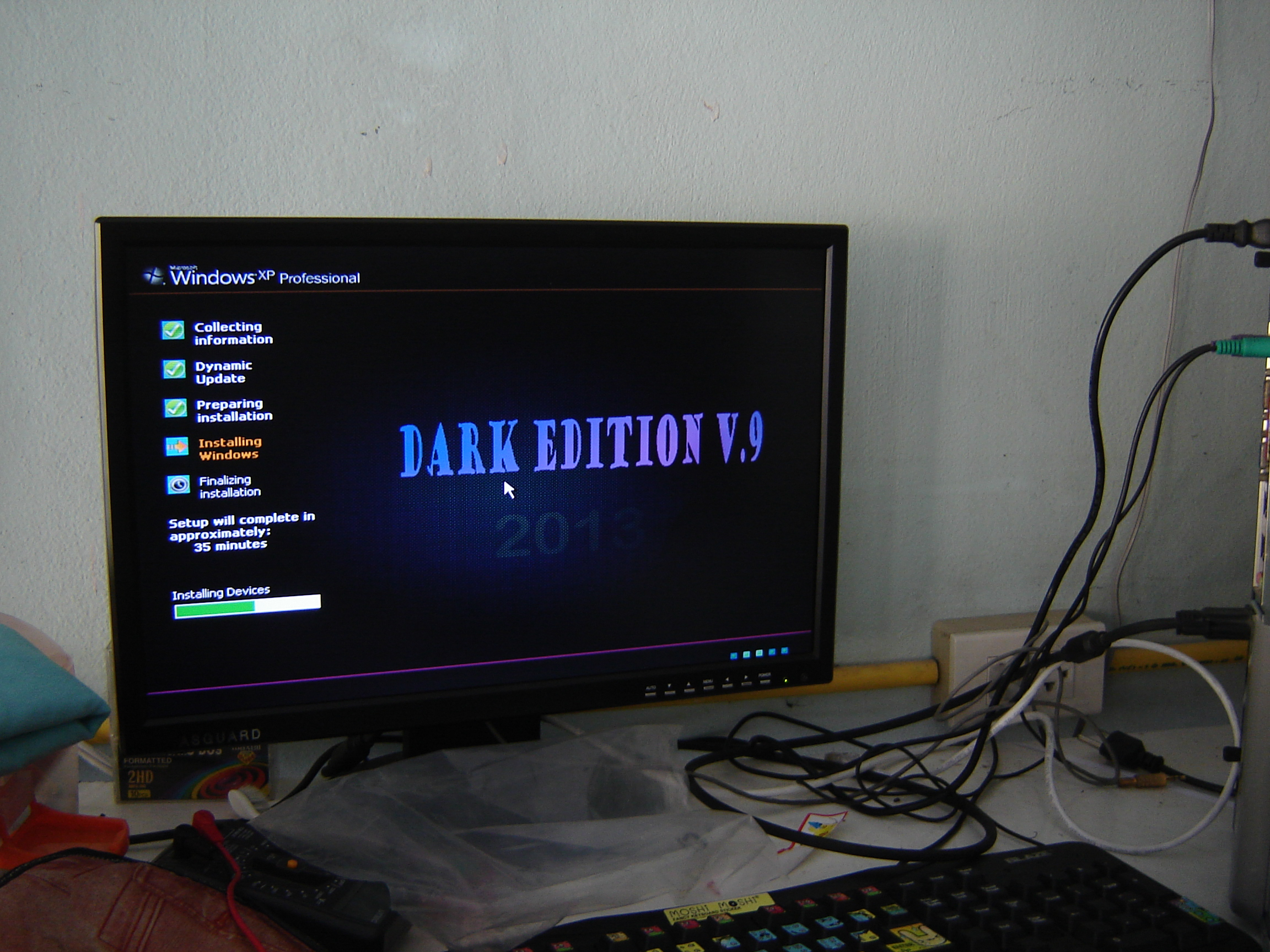 ใช้งาน Windows XP SP3 DARK EDITION V.9 All New SATA 2013